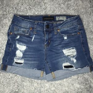 Aeropostale Ripped Jean Shorts